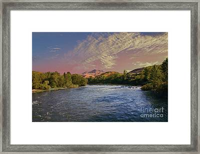 Looking Up The Payette River Framed Print by Robert Bales