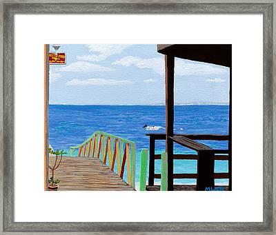 Lookout Along Grand Case Beach Framed Print