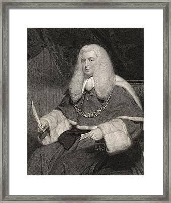 Lord Lloyd Kenyon 1st Baron Kenyon Framed Print by Vintage Design Pics