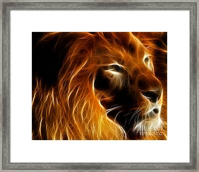 Lord Of The Jungle Framed Print by Wingsdomain Art and Photography