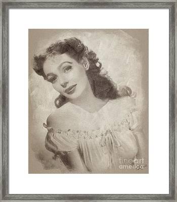 Loretta Young, Actress Framed Print