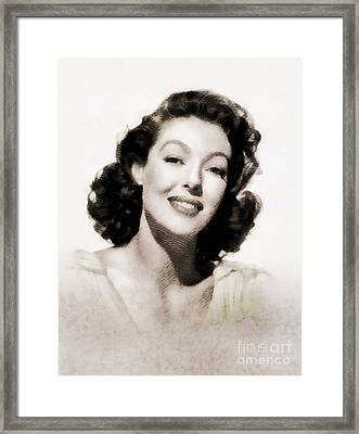 Loretta Young, Vintage Actress By John Springfield Framed Print
