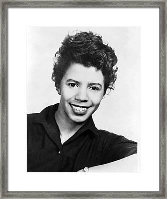 Lorraine Hansberry 1930-1965 African Framed Print by Everett