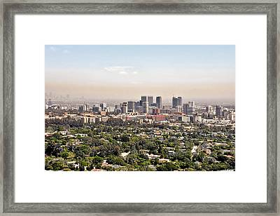 Los Angeles California - Glitter And Trouble Framed Print