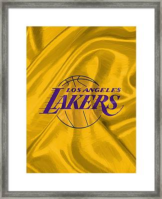 Los Angeles Lakers Framed Print by Afterdarkness