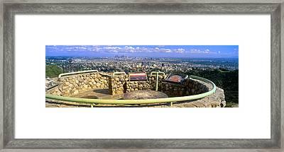 Los Angeles Skyline From Mulholland Framed Print