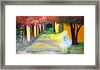 Lost Girl Framed Print by Cindy  Riley