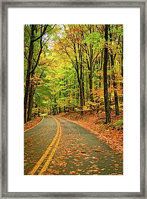 Lost In Pennsylvania - Paint Framed Print