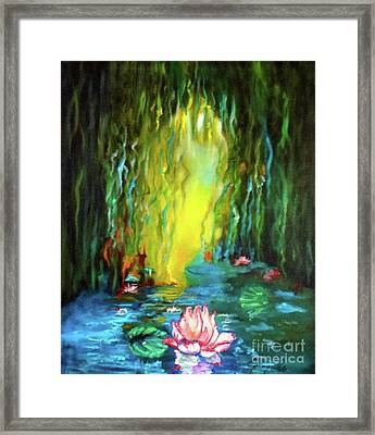 Lotus And Lily Pads Framed Print