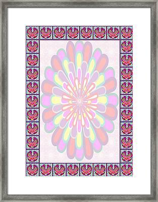 Lotus Flower Wedding Blessings Board Stockart Stockimages Invitation Greetings Stationary Framed Print by Navin Joshi