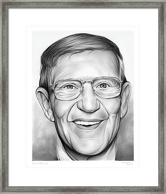 Lou Holtz Framed Print by Greg Joens
