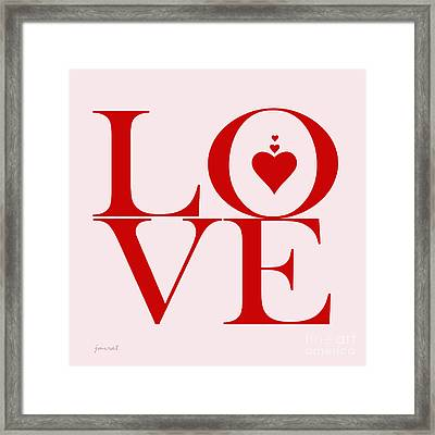 Yes Love You M6 Framed Print