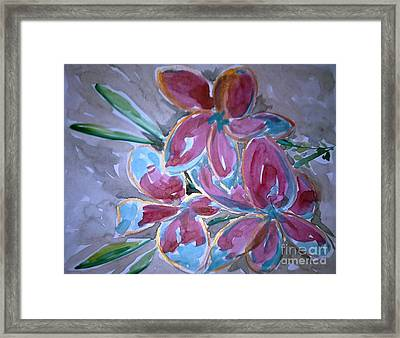 Love Flowers Framed Print by Baljit Chadha