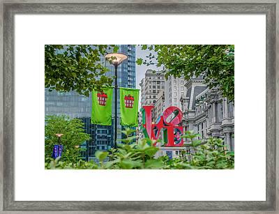 Love In The City - Philadelphia Framed Print