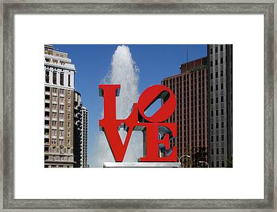 Framed Print featuring the photograph Love - Philadelphia by Bill Cannon