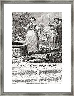 Love S Bitter Potion Or Dolly Pregnant Framed Print