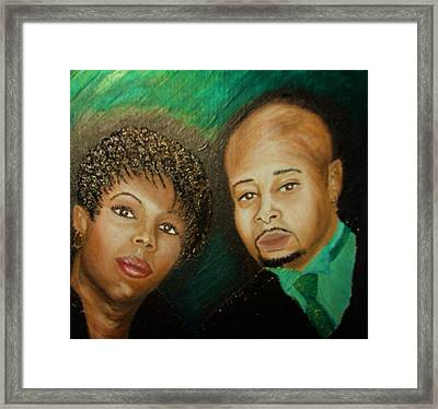 Lovers And Friends Framed Print by Keenya  Woods