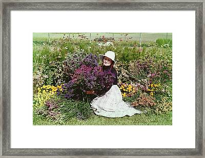 Loving Flowers Framed Print