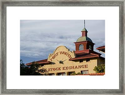 Low Angle View Of A Commercial Framed Print