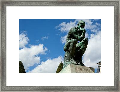 Low Angle View Of A Statue At Musee Framed Print by Panoramic Images