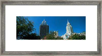 Low Angle View Of Skyscrapers, Mobile Framed Print