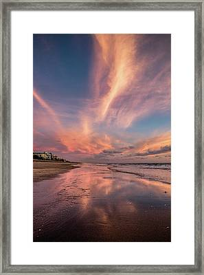 Low Tide Mirror Framed Print by Debra and Dave Vanderlaan