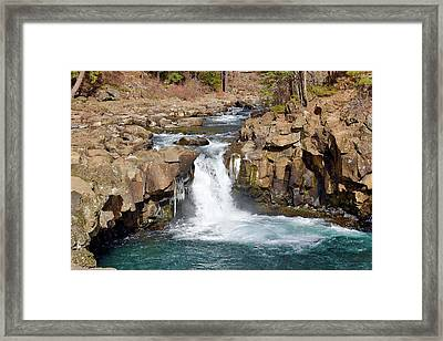 Lower Mccloud Falls Framed Print