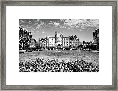 Loyola University - Bw Framed Print