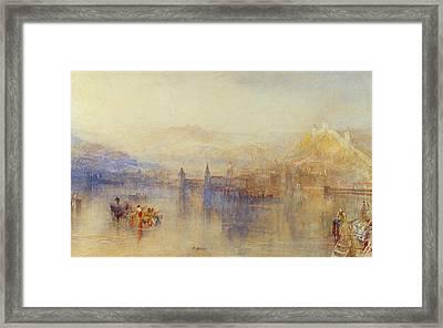 Lucerne From The Lake Framed Print