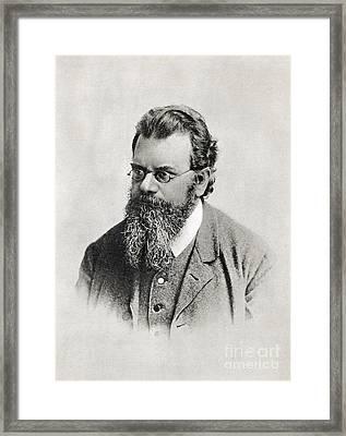 Ludwig Boltzmann, Austrian Physicist Framed Print