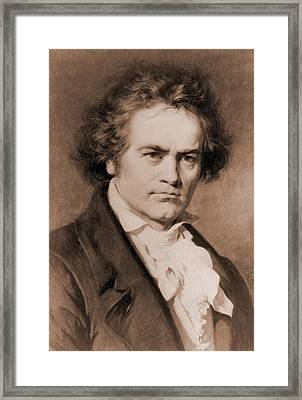 Ludwig Van Beethoven 1770-1827 Framed Print by Everett