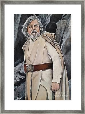 Luke Skywalker Framed Print by Tom Carlton