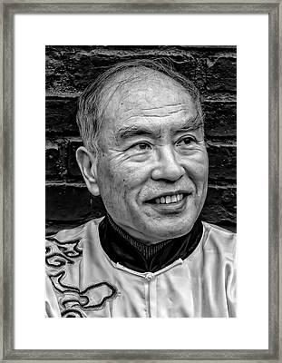 Lunar New Year Nyc 2017 Man In Traditional Dress Framed Print by Robert Ullmann