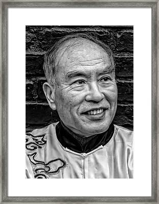Lunar New Year Nyc 2017 Man In Traditional Dress Framed Print by Robert Ullmann