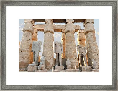 Framed Print featuring the photograph Luxor by Silvia Bruno