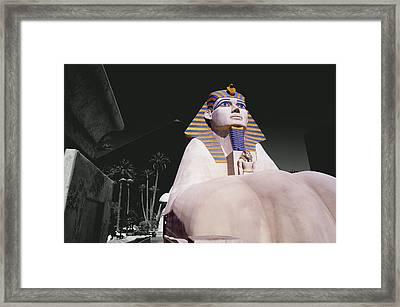 Luxor Sphynx Framed Print by Tom Fant
