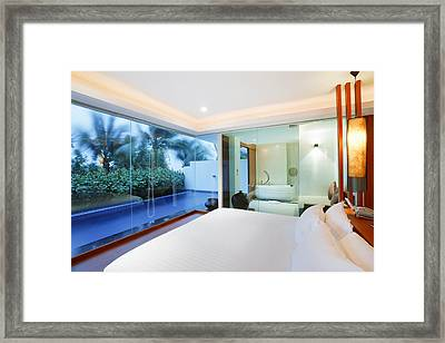Luxury Bedroom Framed Print by Setsiri Silapasuwanchai