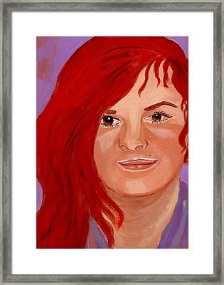 Lydia Framed Print by Rusty Woodward Gladdish
