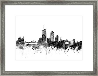 Lyon France Skyline Framed Print