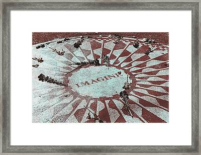 Lyrics Of Lennon Framed Print by JAMART Photography