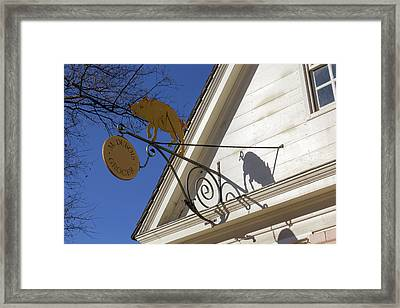 M Dubois Grocer Sign Framed Print by Teresa Mucha
