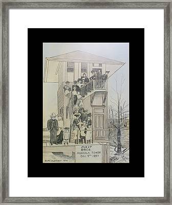 Framed Print featuring the photograph M K  T Railroad by Jeanne May