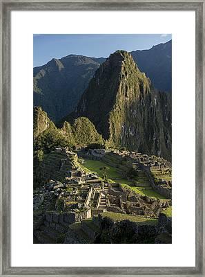 Machu Picchu Framed Print by Christian Heeb