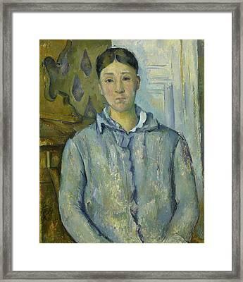 Madame Cezanne In Blue  Framed Print