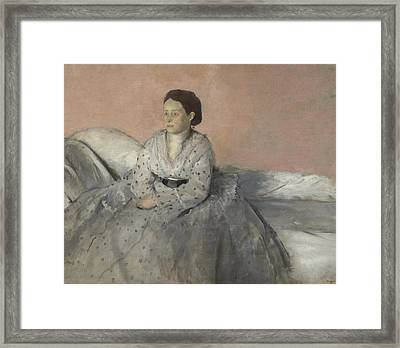 Madame Rene De Gas Framed Print by Edgar Degas