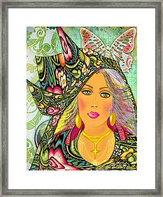 Madelyn Framed Print by Lynell Withers