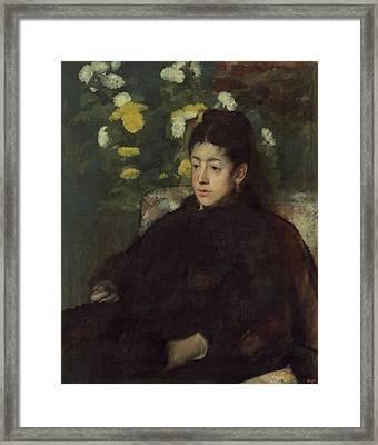 Mademoiselle Malo Framed Print by Edgar Degas