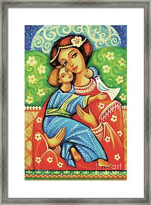 Madonna And Child Framed Print by Eva Campbell