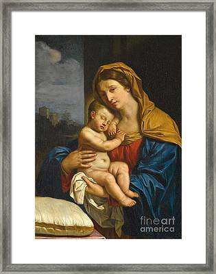 Madonna And Child Framed Print by Guercino