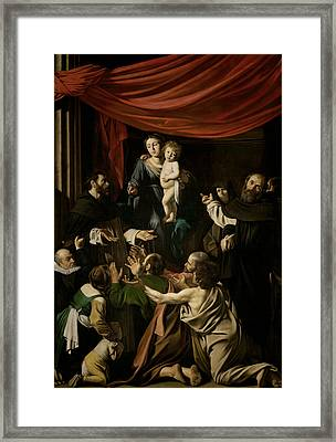 Madonna Of The Rosary  Framed Print